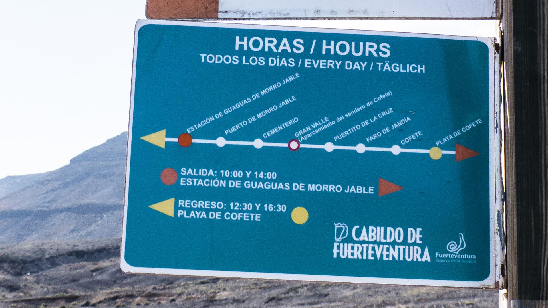 Wandern + Trekking auf Fuerteventura: Der Königsweg –durch das Gran Valle nach Cofete.