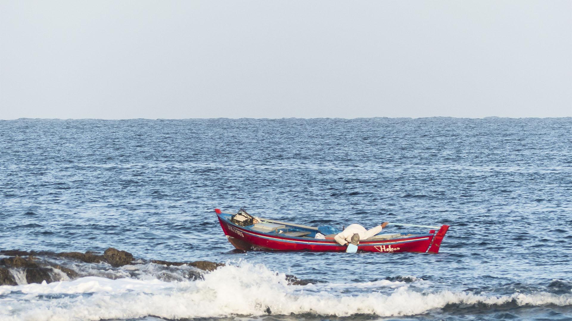 Fischen Hochseefischen Angeln auf Fuerteventura.