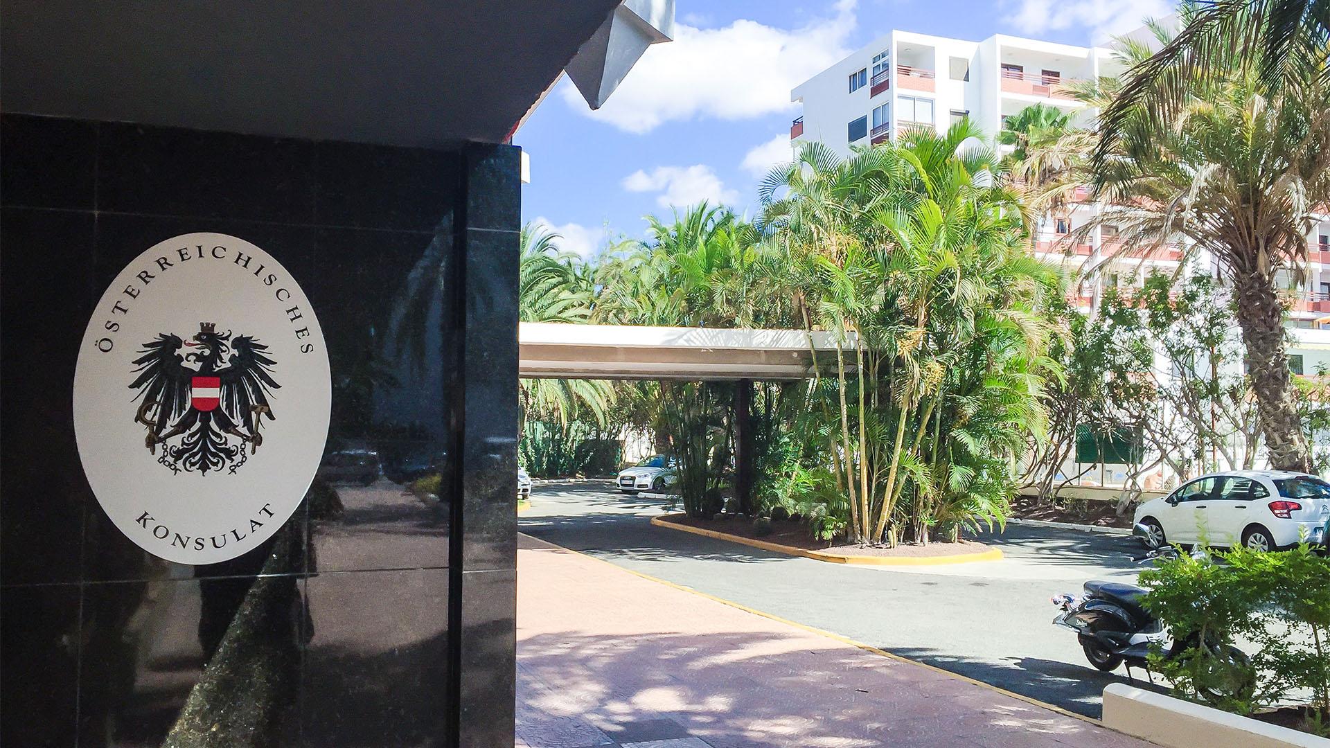 Auslandsvertretungen –Konsulate, Botschaften und Sprechtage konsularischer Vertretungen in Hotels auf Fuerteventura.