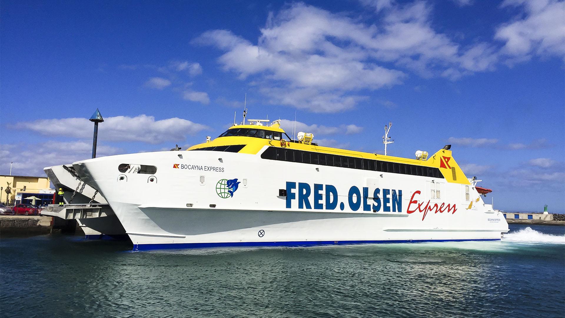 Mit der Fähre nach Fuerteventura und Fährverbindungen zwischen den Inseln.