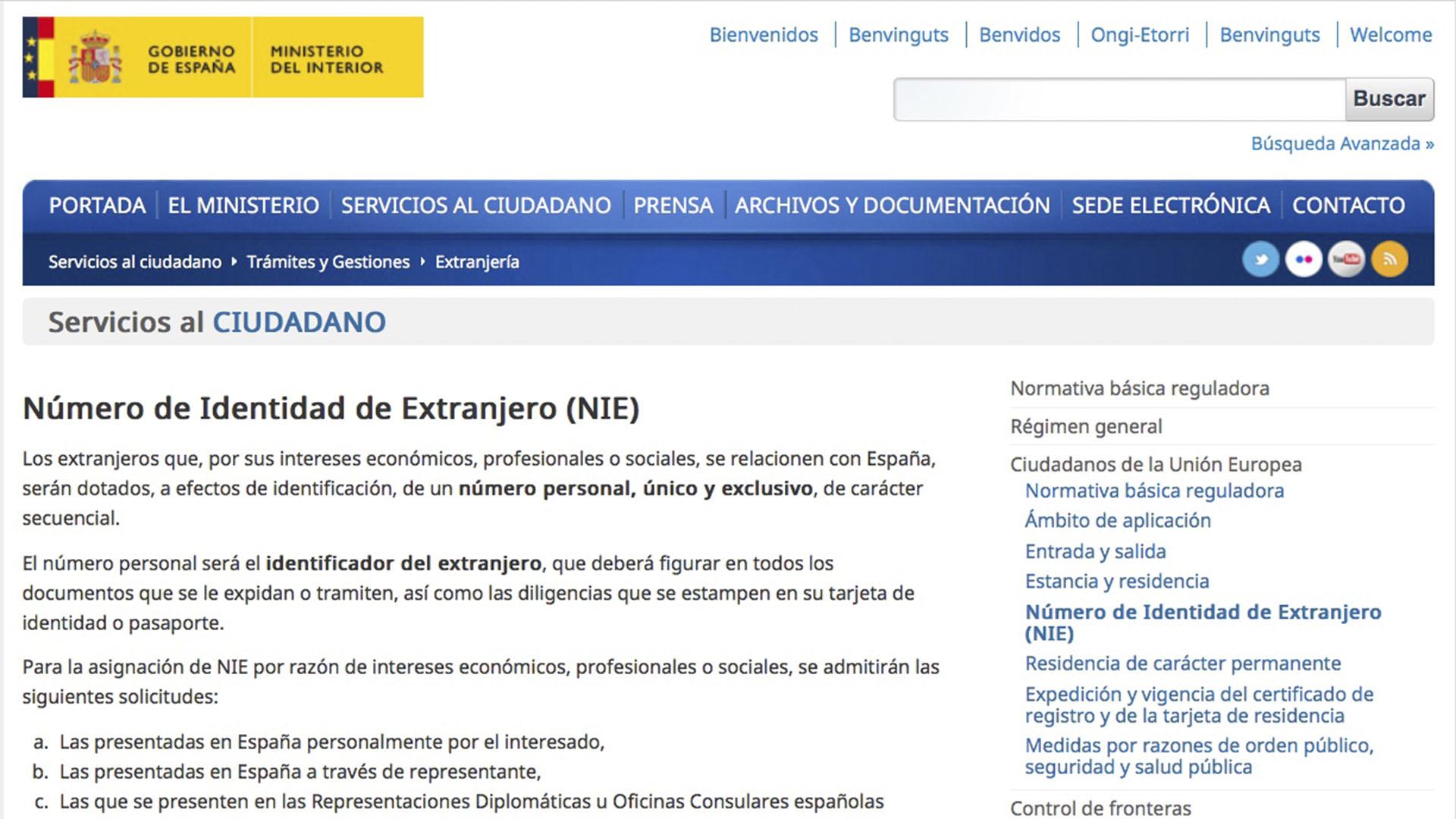 Meldepflicht und Steuernummer in Spanien –residencia + NIE.