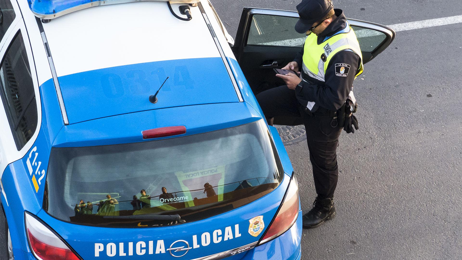 Sicherheit: Policia Local Fuerteventura.