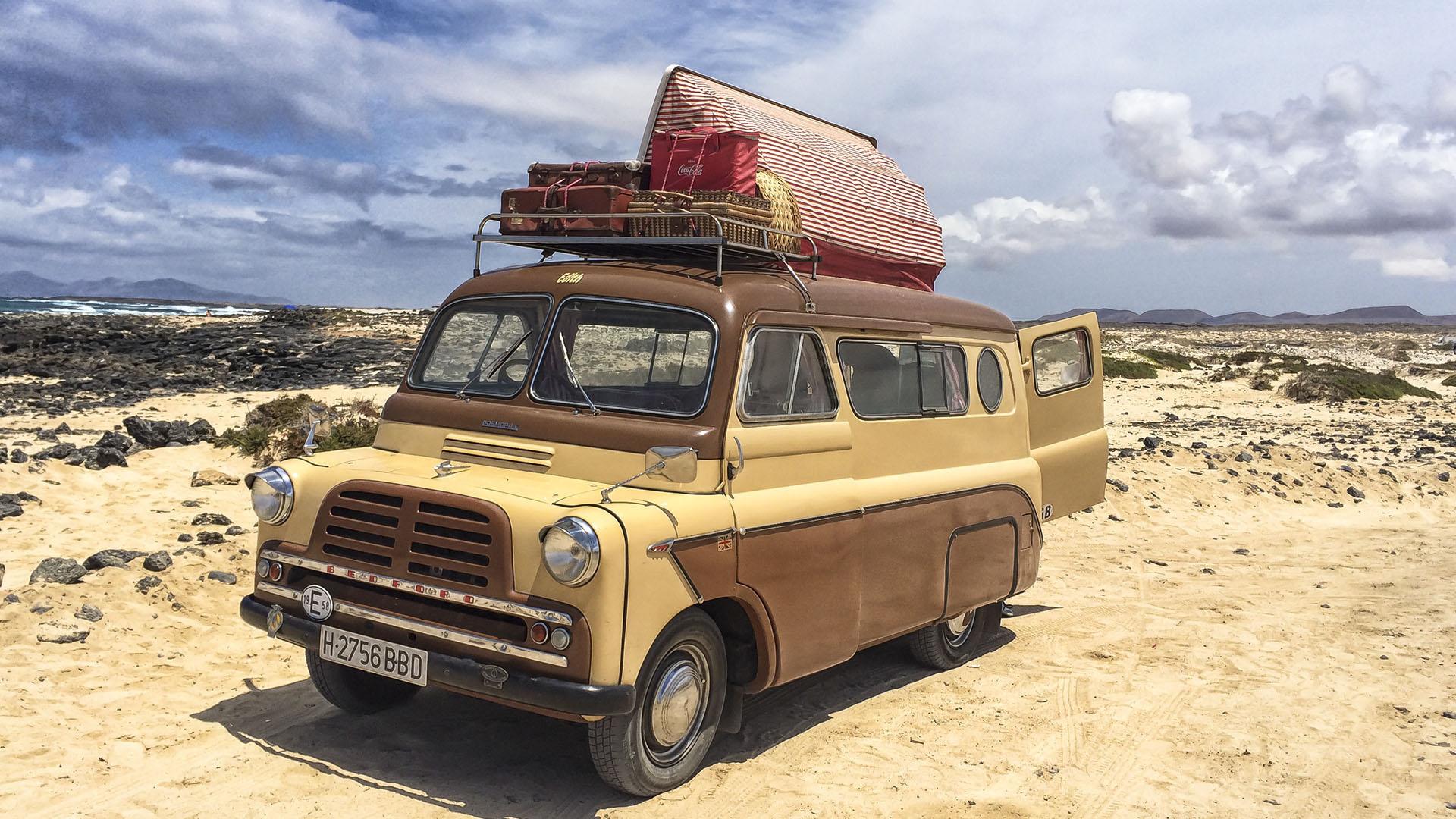 Travel in Style –Bedford Dormobile unterwegs auf Fuerteventura.