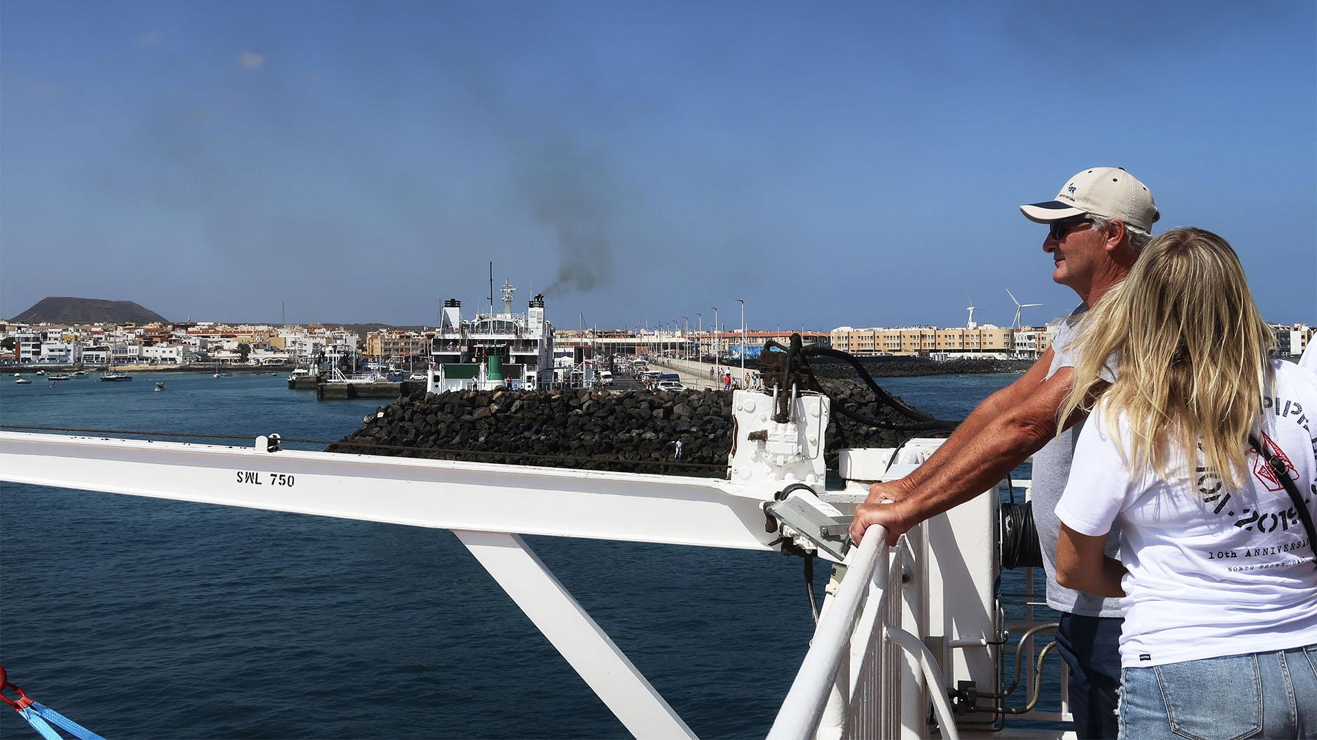 Ablegen in Corralejo Fuerteventura.