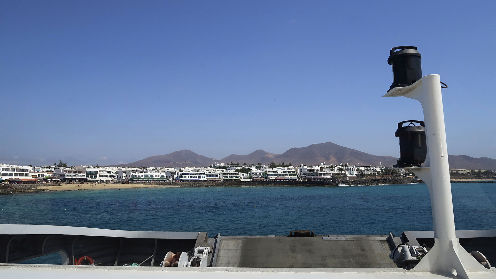 Einlaufen in Playa Blanca Lanzarote.