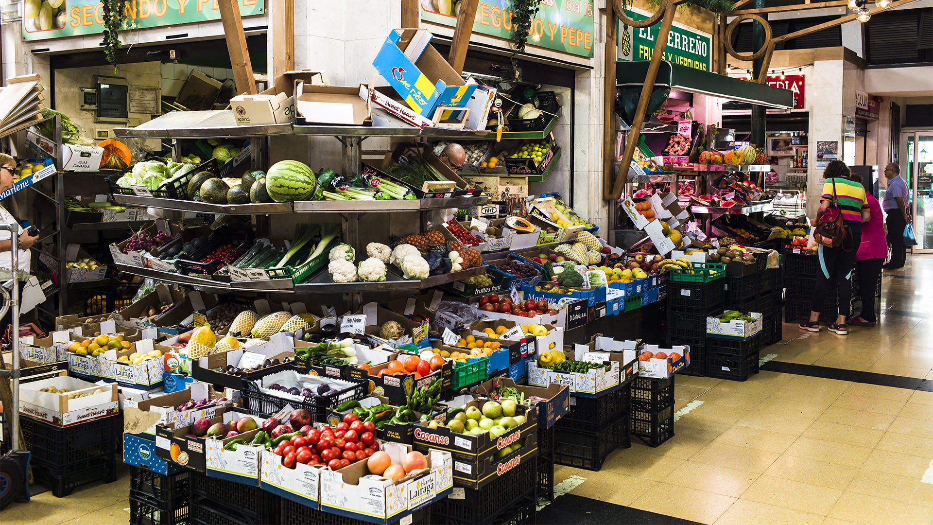 Mercado del Puerto Las Palmas de Gran Canaria.