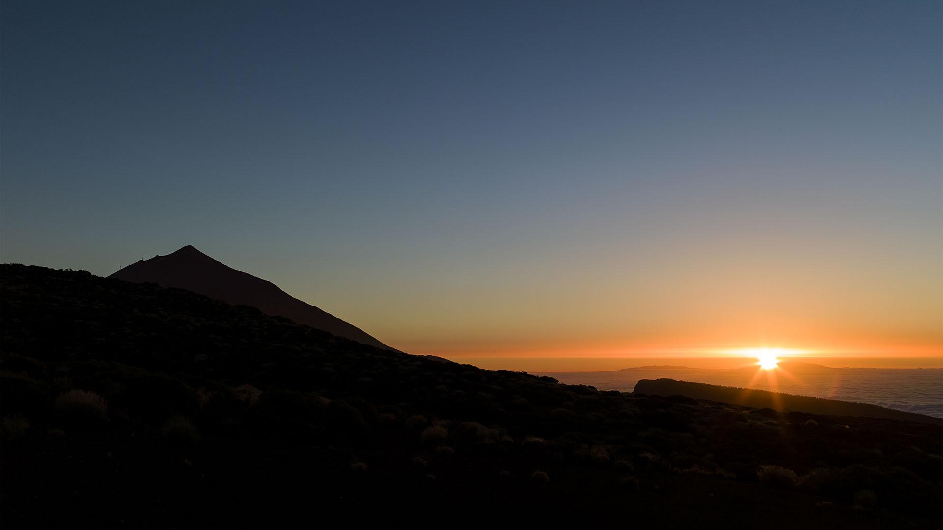 Sonnenuntergang am Pico del Teide Teneriffa.
