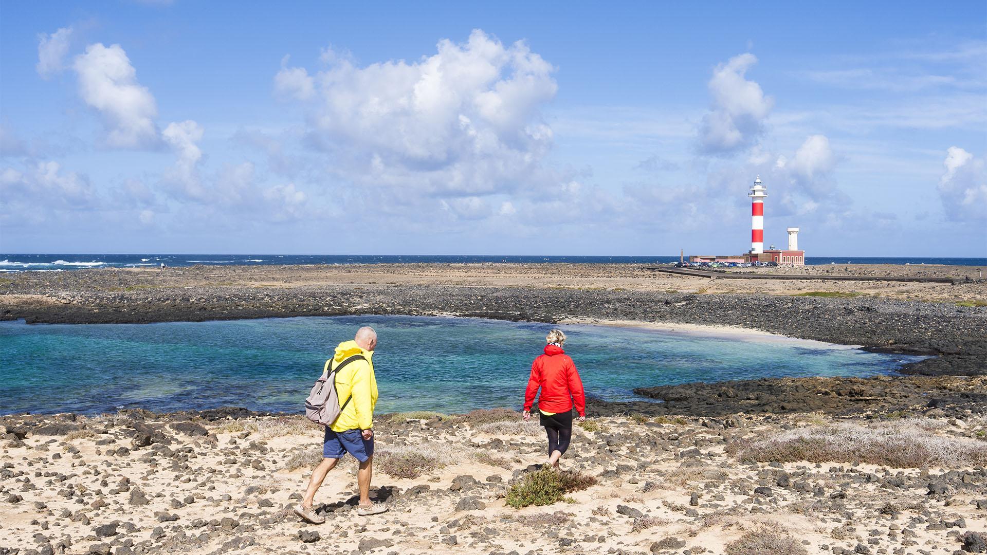 Wandern am Leuchtturm Faro de Tostón El Cotillo Fuerteventura.