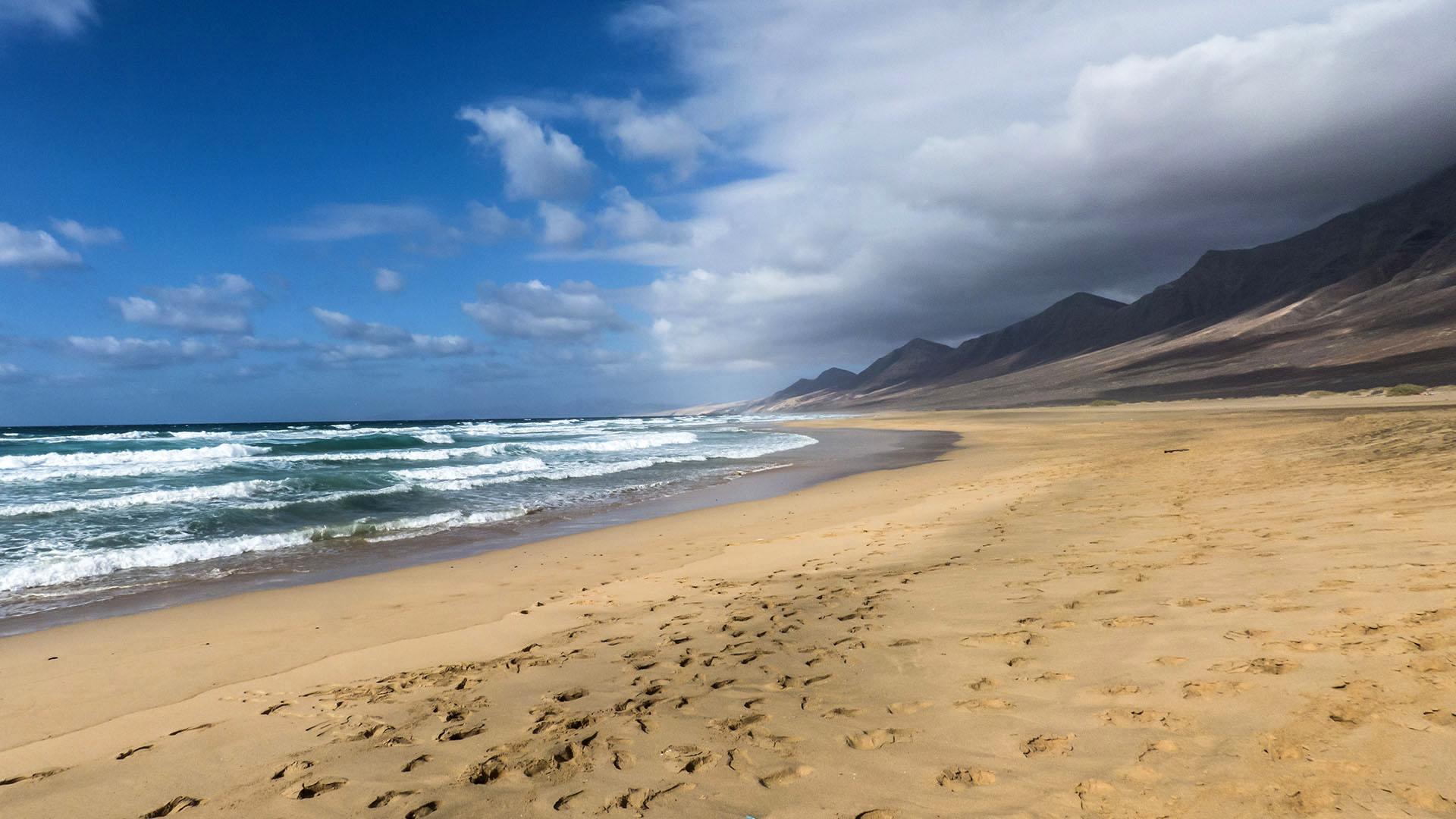 Wandern an den Stränden von Cofete Fuerteventura.