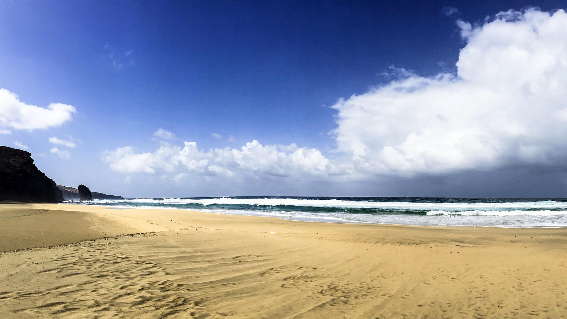 Wandern zum Roque del Moro Cofete Fuerteventura.