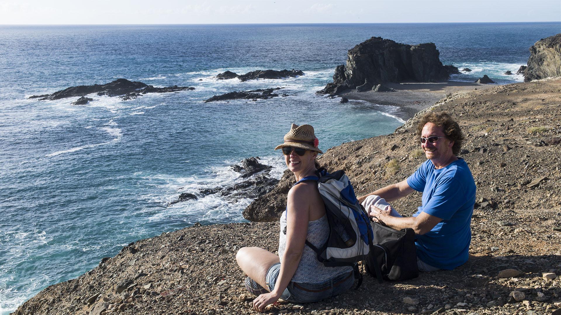 Wandern von Vega de Río Palmas nach Ajuy Fuerteventura.