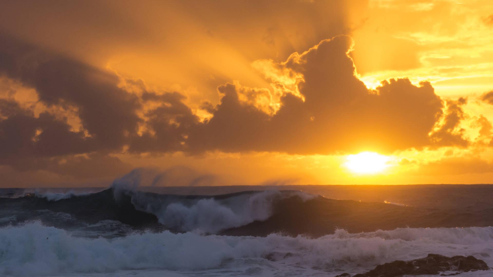 Wildes Winterwetter auf Fuerteventura.