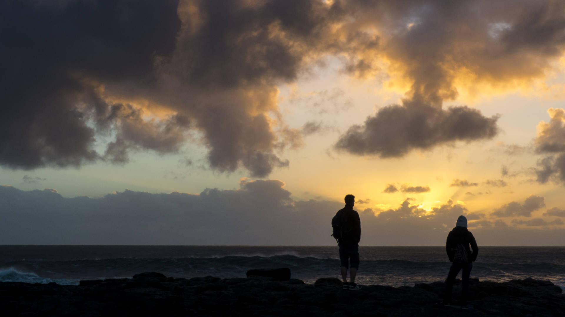 Winterlichen Sonnenuntergänge auf Fuerteventura.