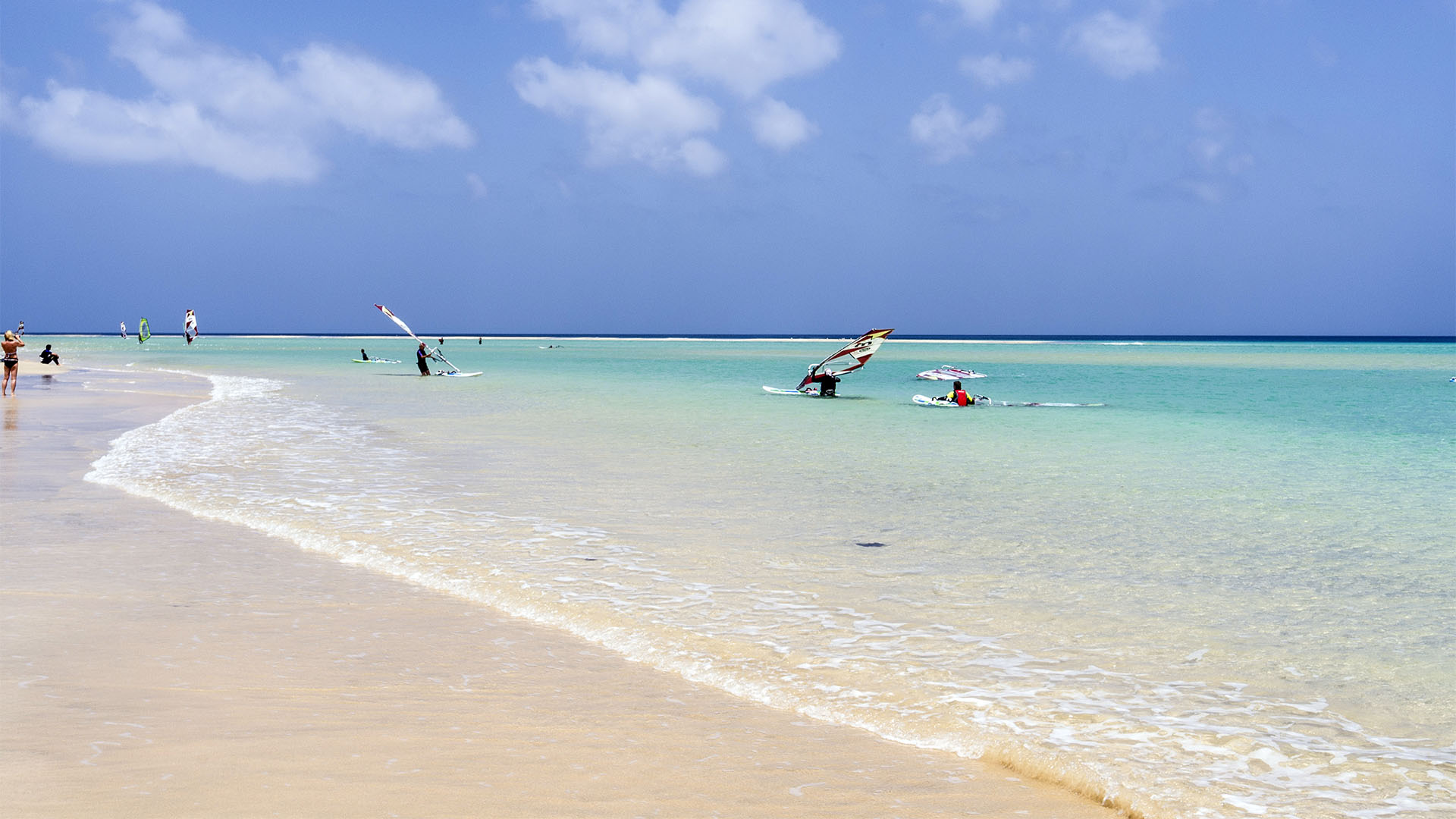 Traumstrände der Costa Calma Fuerteventura –Risco de Paso im Sommer.