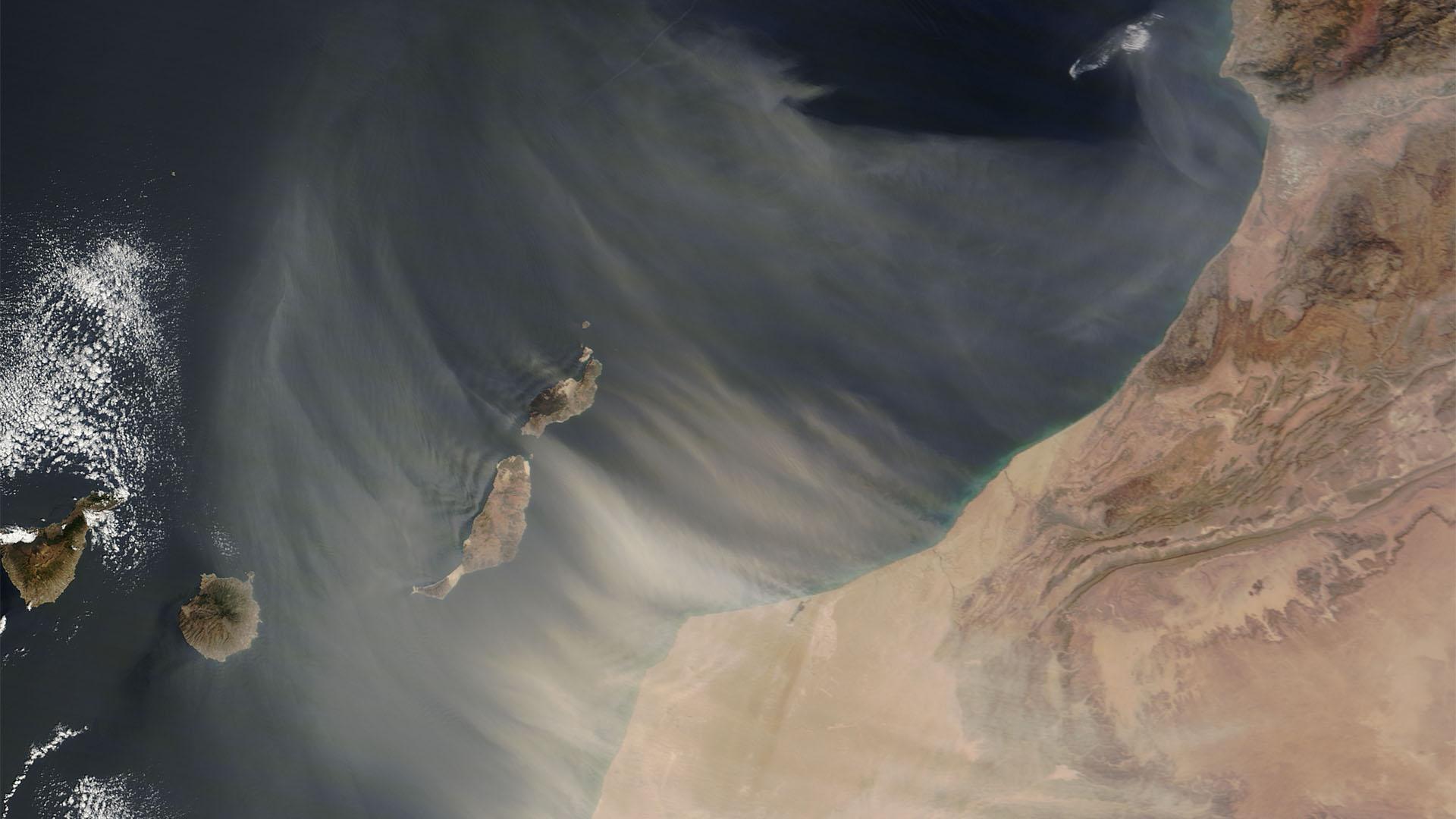 Heisser Wind aus Afrika –der Calima und der Sand der Sahara.