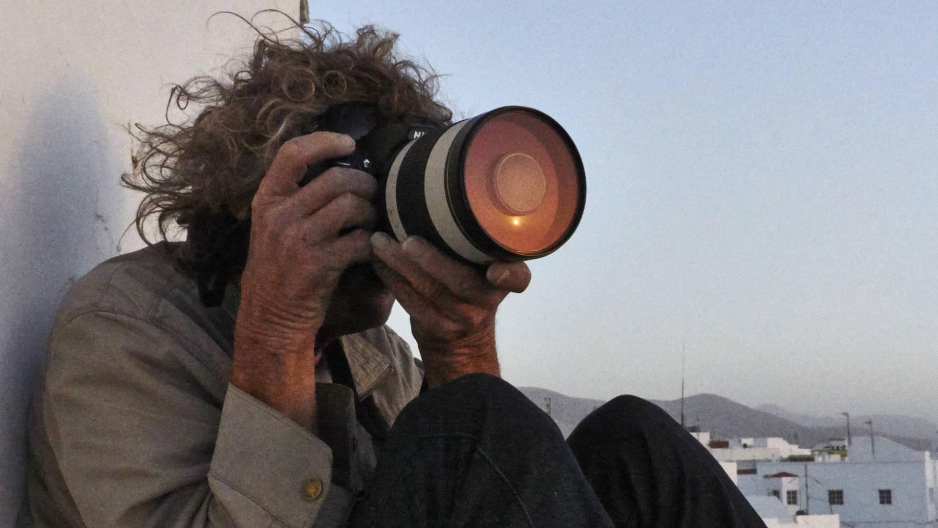 Warten auf den Sunset und die Silhouette des Teide auf Teneriffa.
