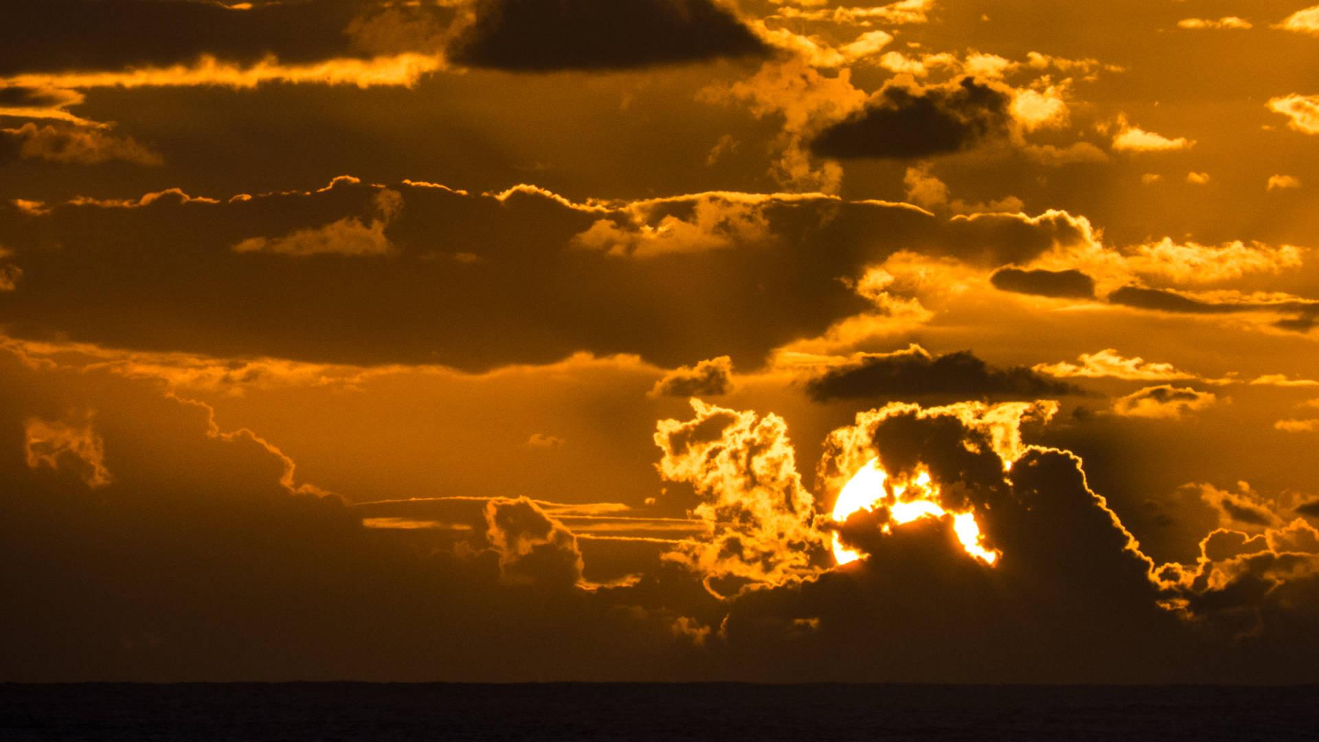 Sonnenuntergang und Passatwolken – immer ein dramaturgisch grandioses Ereignis.