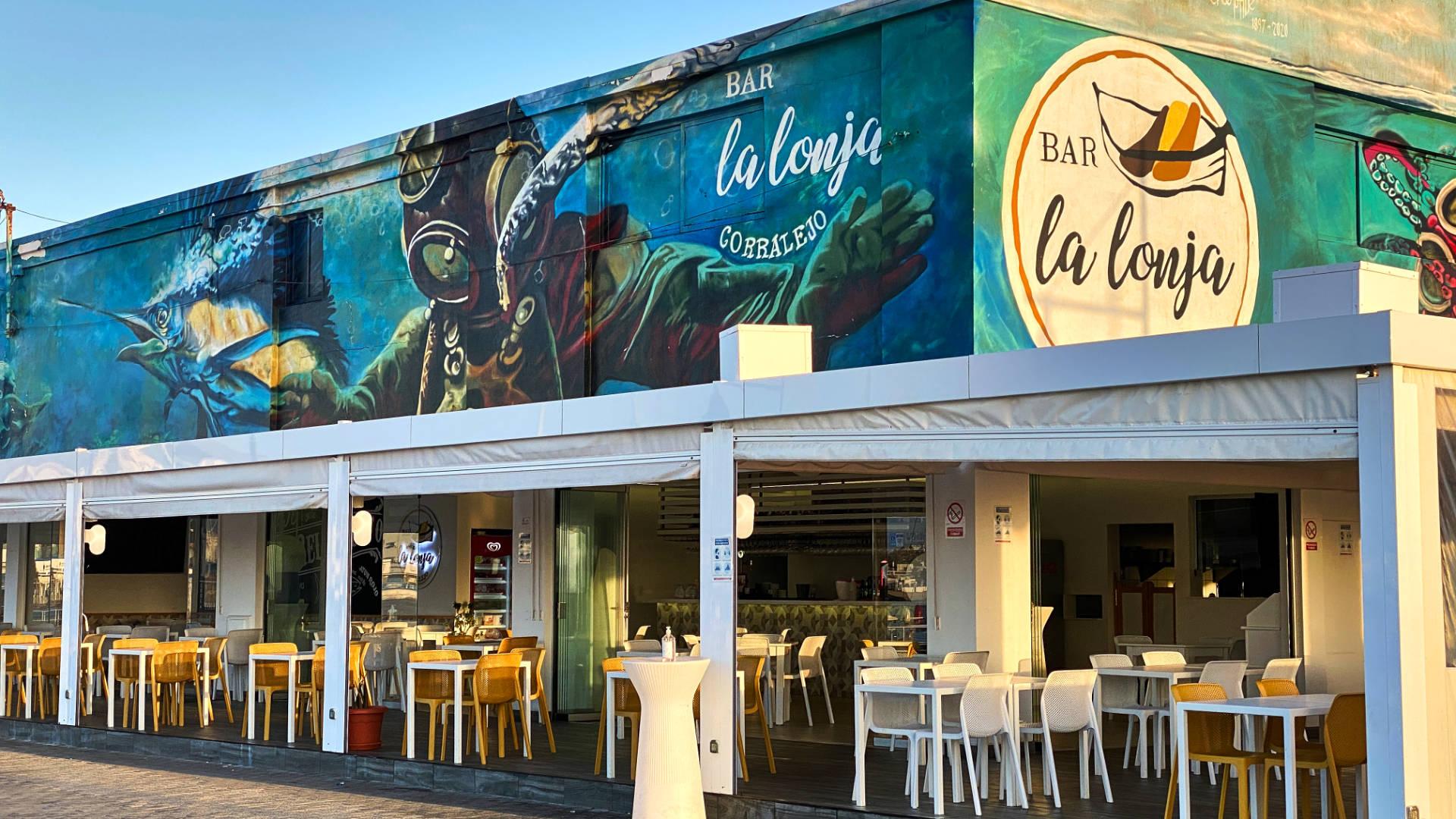 """Die """"Bar la lonja"""" öffnet für Frühaufsteher."""