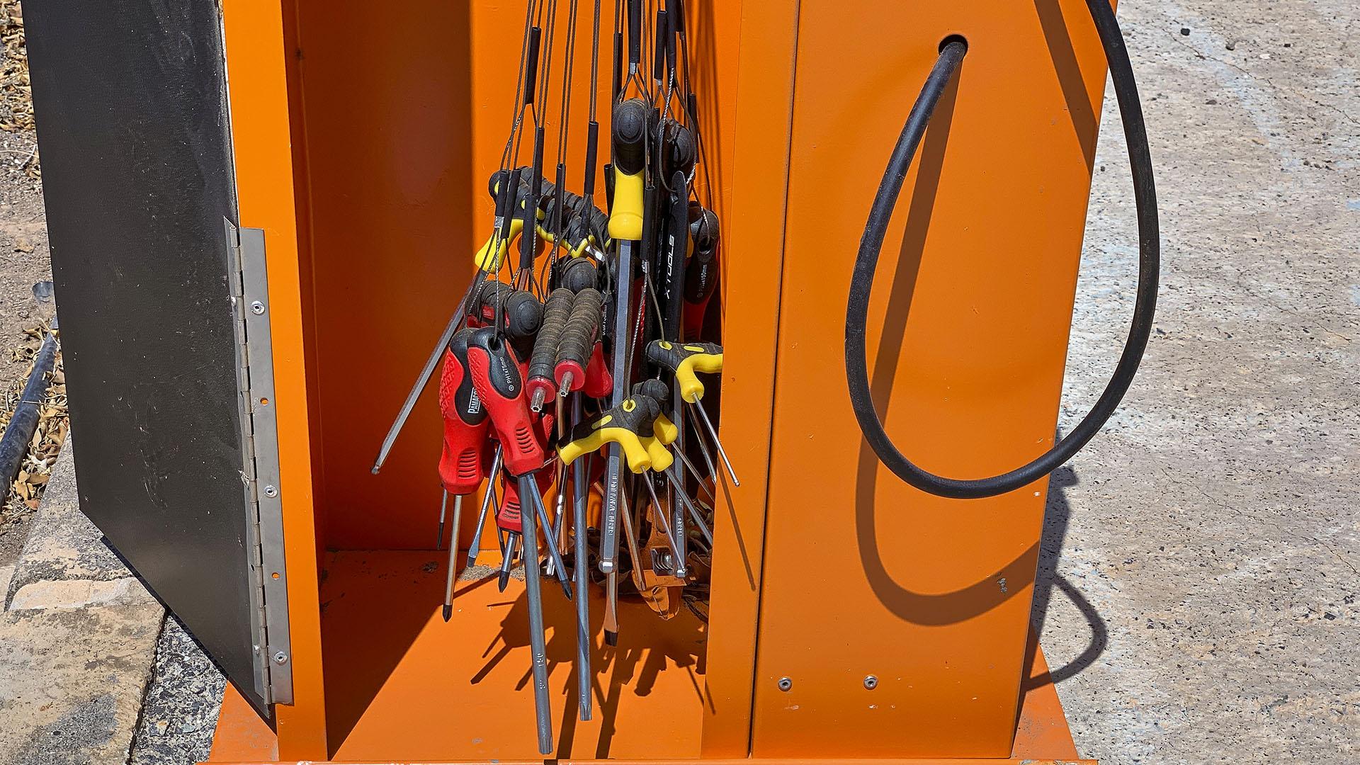 BICIBOX – Luftpumpe und Werkzeug an Fuerteventuras Radrouten.